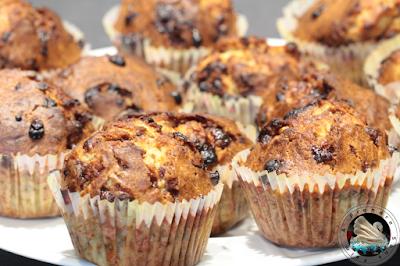 Muffins à la banane et aux pépites de chocolat en vidéo