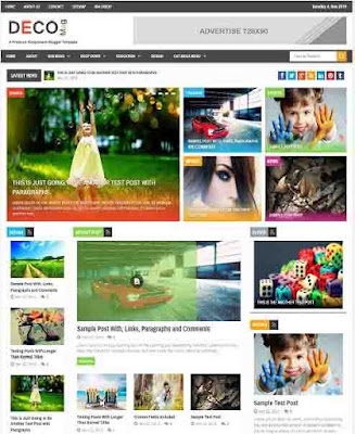 Deco Mag Adsense Responsive Blogger Templates Without Footer Credit
