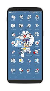 Tema Doraemon Untuk Oppo ColorOs Tembus Aplikasi