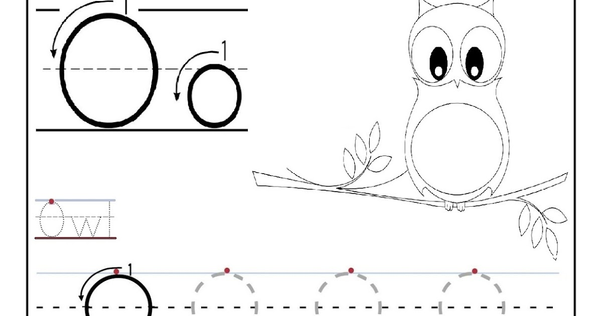 Free printable worksheet letter O for your child to learn