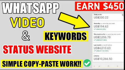 WHATSAPP VIDEO STATUS ,STATUS Micro Niche Website  Low Competition Keywords With High Search Volume in 2021