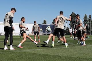 El cuadro madridista siguio entrenando intensamente en la Ciudad Real Madrid
