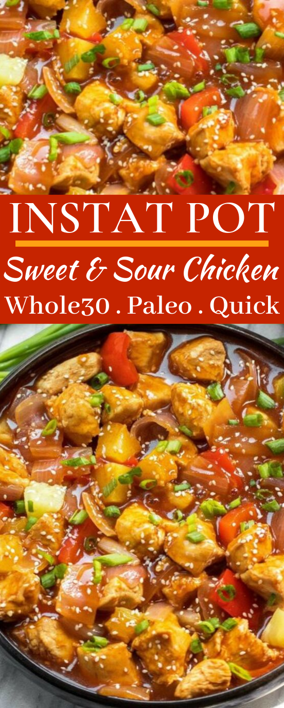 Whole30 Instant Pot Sweet & Sour Chicken #healthy #whole30
