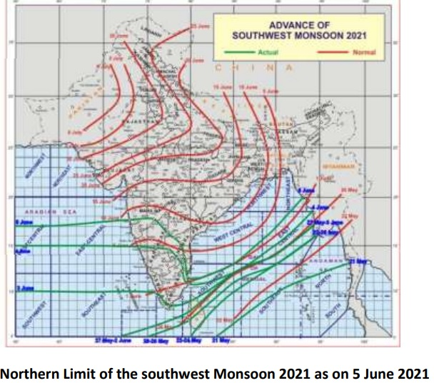 Southwest Monsoon has further advanced into more parts the central Arabian Sea