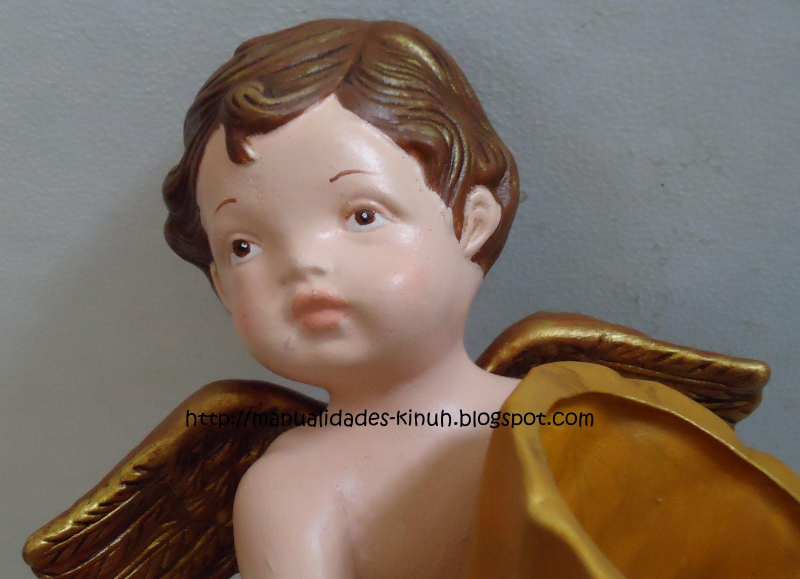 Manualides artcraft handcraft ceramica angel de la - Angelitos de yeso ...