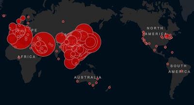 Эпидемия коронавируса стремительно распространяется по всему миру
