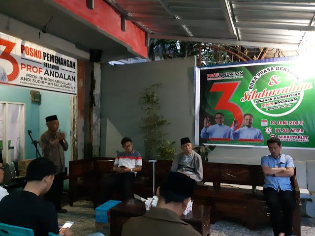 Gelar Buka Bersama, Tim dan Simpatisan Tana Toraja, Rapatkan Barisan Menangkan Prof Andalan