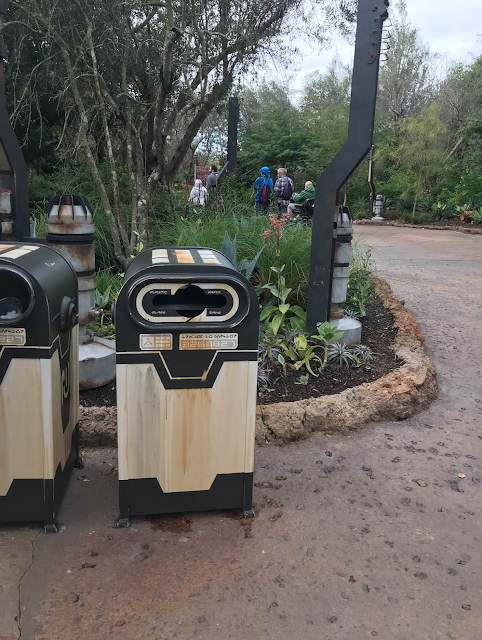 Star Wars Galaxy's Edge Garbage Can Trash Compacter Number