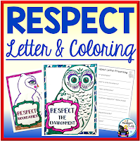 respect letter and coloring pages