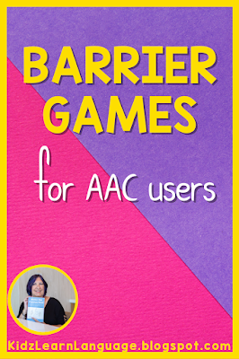 use of barrier games in speech therapy