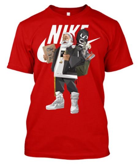 Santa Claus Nike hiphop T-Shirt Hoodie sweatshirt sweater. GET IT HERE