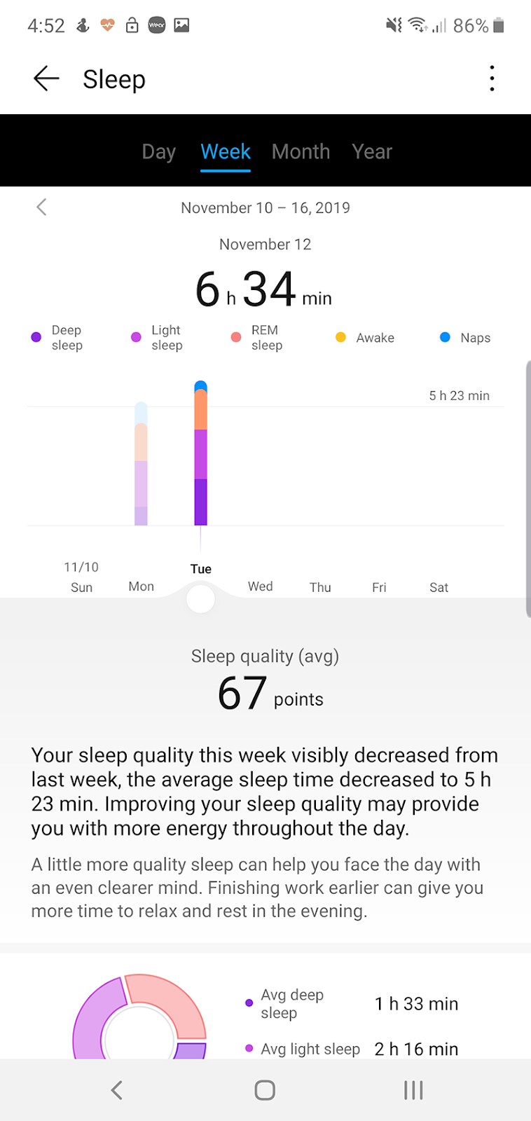 Advanced sleep tracking features