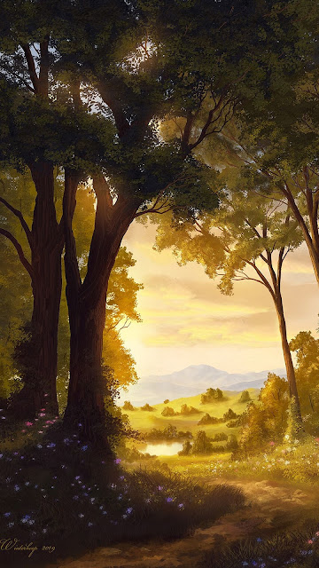 Landscape painting with HD wallpaper