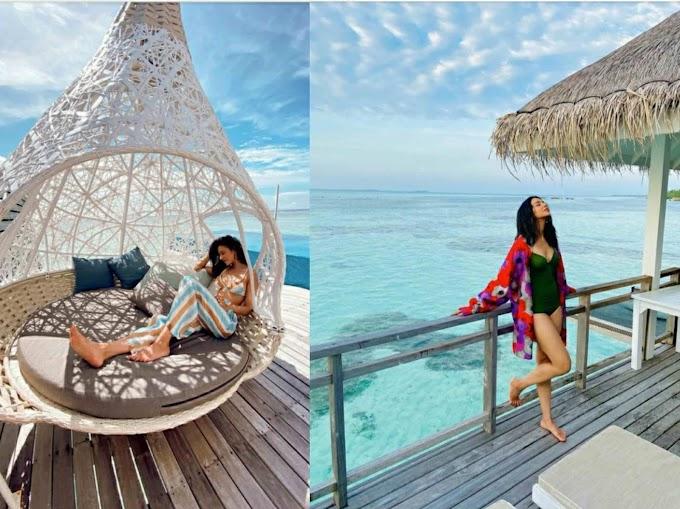 राकुल प्रीत सिंह मालदीव में छुट्टियां मनाती दिखी, दिखाया हॉट अंदाज।