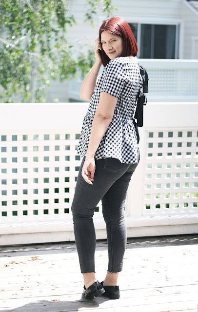 Levis, washed black skinny jeans, SheIn, Affordable fashion, Sarah Satongar, gingham, fashion blogger