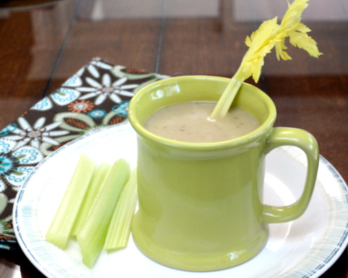 Cream of Celery Soup, another healthy soup ♥ A Veggie Venture, a simple homemade celery soup, all about the celery and way more than the sum of its parts. Rave reviews!