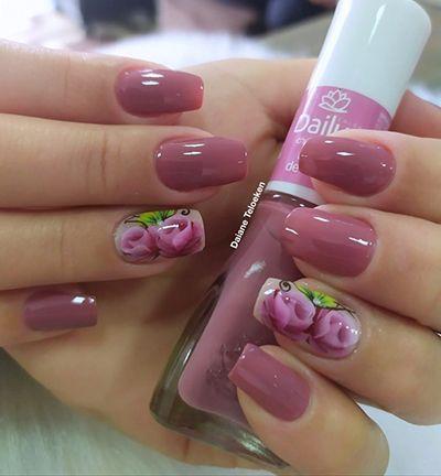 unhas com flores 2
