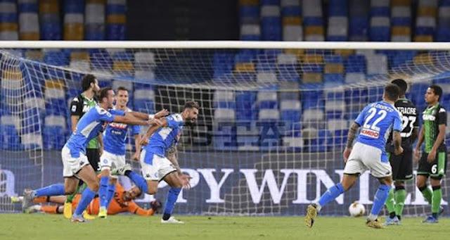 Video di Elsejd Hysaj che segna il gol contro il Sassuolo, il primo in Serie A.