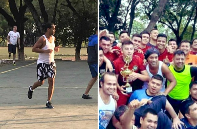 Ronaldinho Participates in Paraguayan prison football match, wipes the floor with inmates