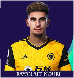 PES 2021 Faces Rayan Aït-Nouri by Rachmad ABs