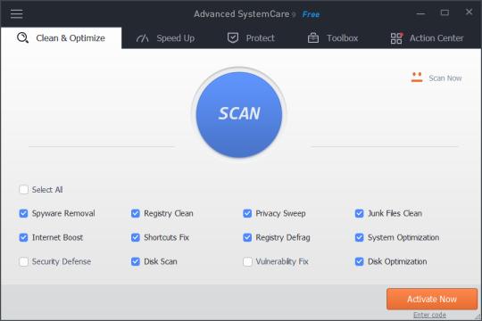 Advanced SystemCare Free 10.4.0.760 (Software Pembersih PC Terbaik Gratis)