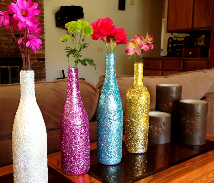 Contoh Kreasi Botol Bekas Untuk Vas Bunga