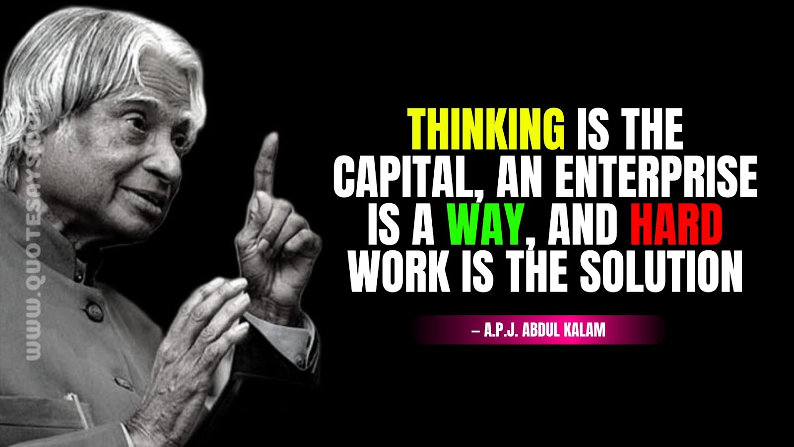 Apj Abdul Kalam Quotes About Hadwork