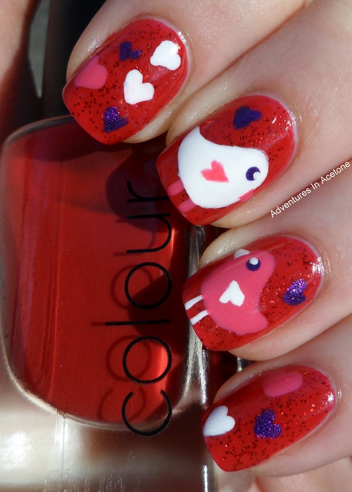 Lovebirds Valentine's Day Mani!