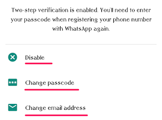 WhatsApp Screenshot - Change Two-step Verification Settings