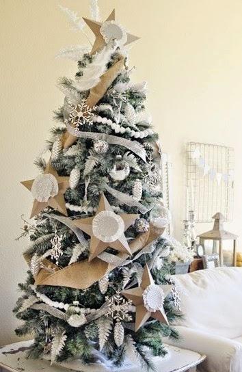 Rboles de navidad en color blanco y dorado colores en casa - Arboles de navidad blancos ...