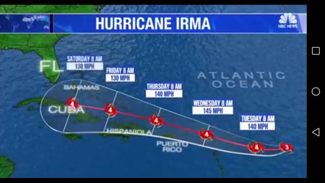 Hurricane Irma landa Cuba dan Puerto Rico