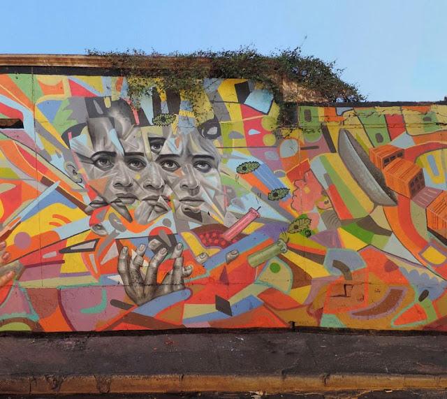 """""""Defender Lo Que Nos Queda"""" New Street Art Mural by Peruvian Artist El Decertor In Cartagena, Colombia. 4"""