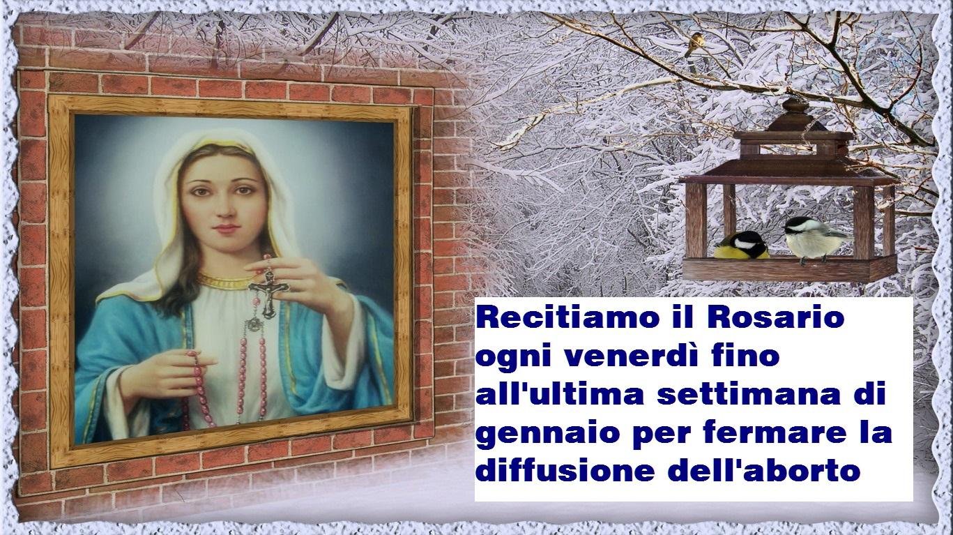 ❥•♪♫ IMPORTANTE: ❥•♪♫ Recitiamo il Rosario ogni venerdì fino all'ultima settimana di gennaio
