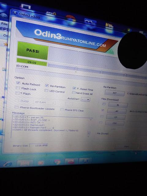 Belajar Flash Samsung Menggunakan Aplikasi Odin