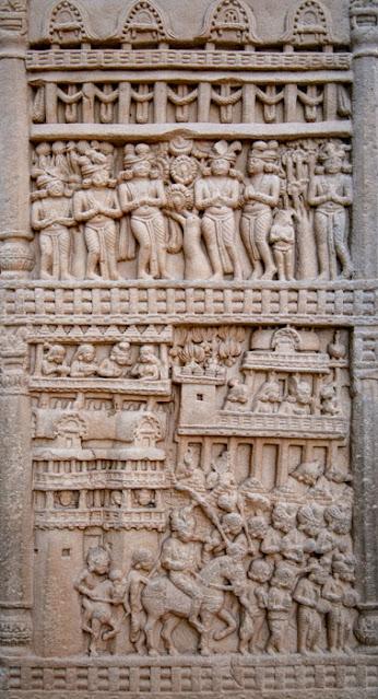 sanchi buddhist stupa madhya pradesh carving mural