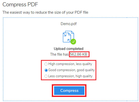 how to compress pdf file size online free
