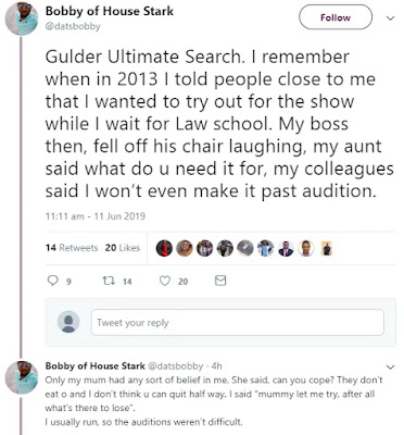 Gulder Ultimate Search Contestant Disclose Eye Opening Experience About The Show.