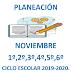 PLANEACION (mes de noviembre) 1° a 6° PRIMARIA CICLO ESCOLAR  2019-2020.