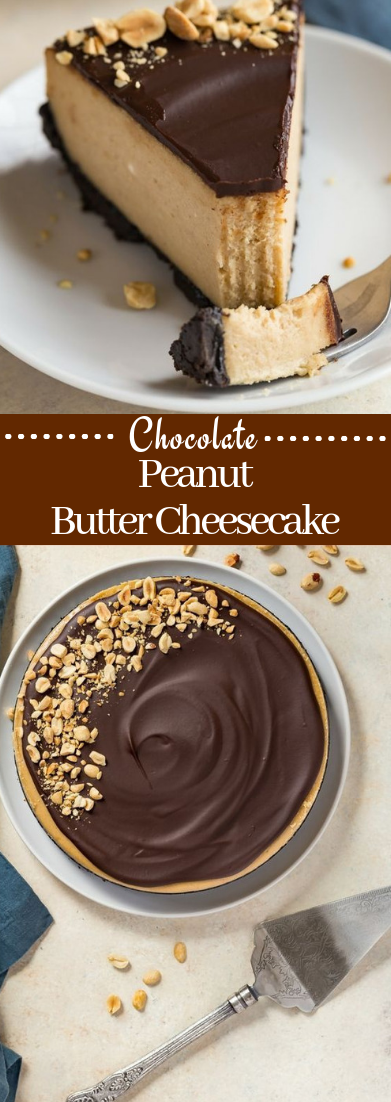 Chocolate Peanut Butter Cheesecake #dessert #cakechoco