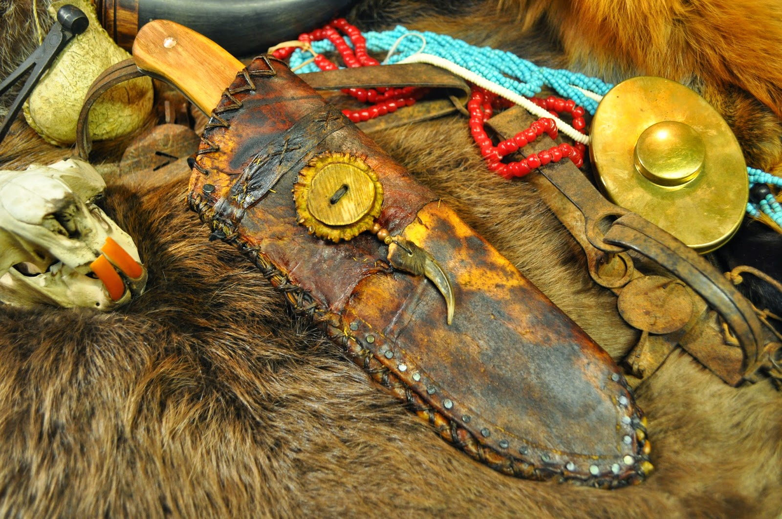 Skab Leatherworks: Mountain Man Camp Knife and Rawhide Sheath