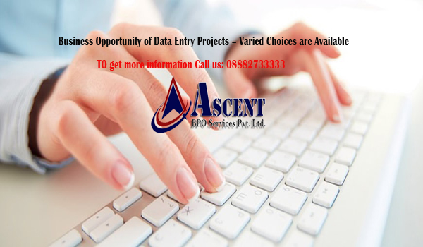 Business Opportunity of Data Entry Projects – Varied Choices are Available