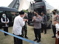 Forkompimda Jatim Dampingi Panglima TNI dan Kapolri Kunjungi Vaksinasi Pesantren Tebu Ireng Jombang