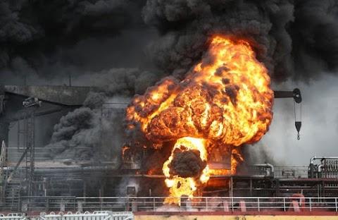Felrobbant egy tartályhajó Dél-Koreában, kilencen megsérültek