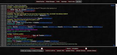 tampilan halaman chat dari forum terlarang tabooless