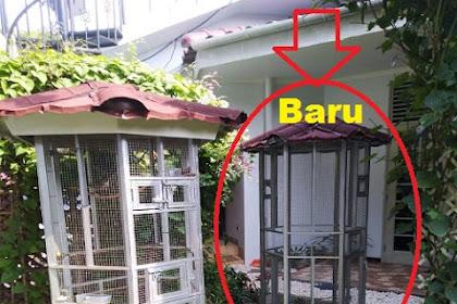 Repeat Order Kandang Besi untuk Burung Cucak Rowo pesanan Bpk Rudi di Pasar Minggu