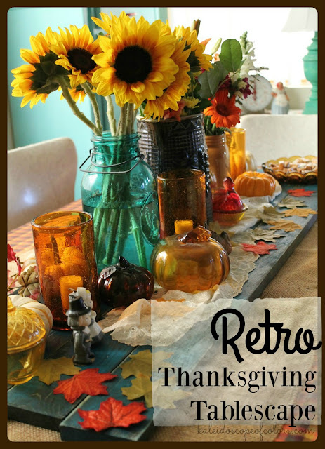 Retro Thanksgiving Tablescape