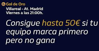 william hill Gol de Oro Villareal vs Atletico 6 diciembre 2019