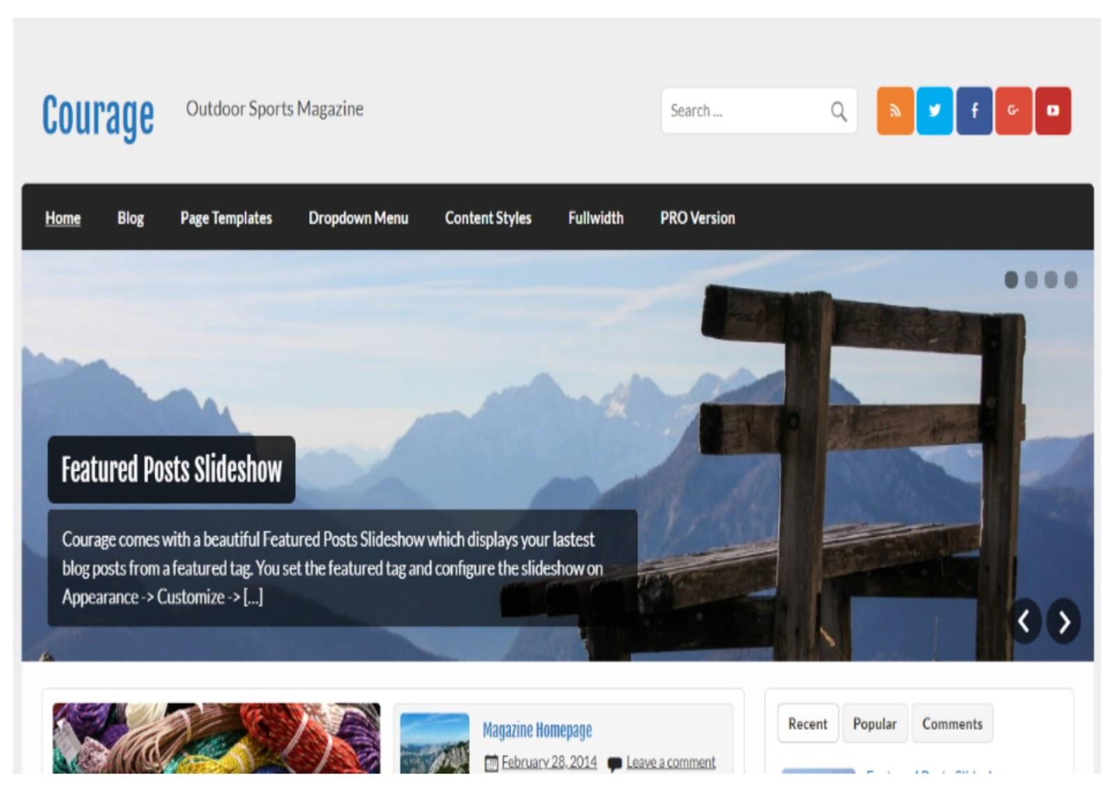 Courage WordPress Theme