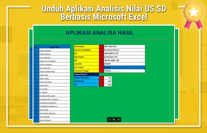 Unduh Aplikasi Analisis Nilai Us Sd Berbasis Microsoft
