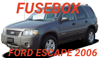 FORD escape 2006 tempat box sekring